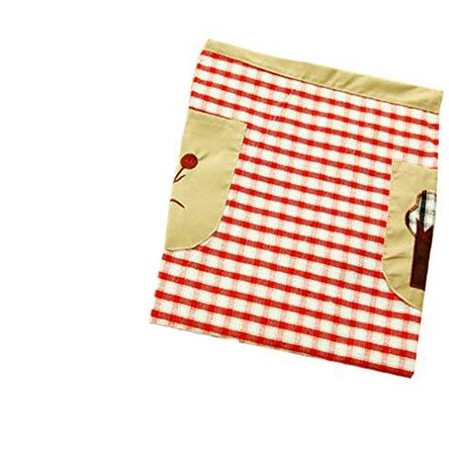 Dames Tabliers chef de cuisine Butcher Accueil la famille Cuisine un barbecue Cuisine Cuisson Bar Tablier avec Les poches 3 Les couleurs (Rouge)