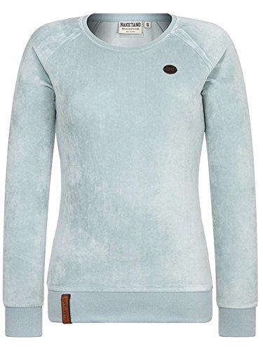 Naketano Female Sweatshirt Mackin da Hoes Soft Blue