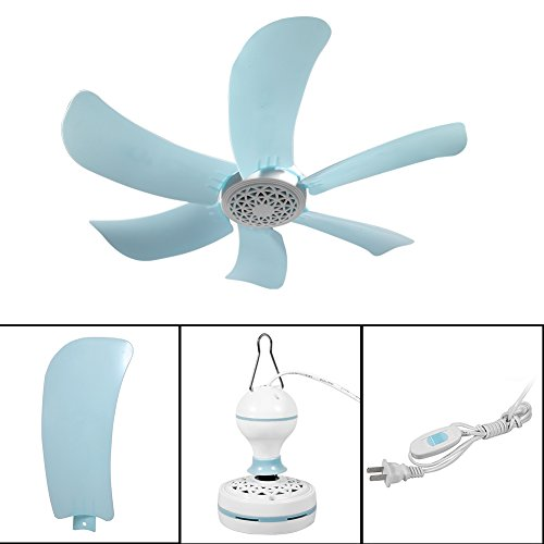Ventilador de Techo, 6 Cuchillas ABS Mini Ventilador de Techo eléctrico Anti-Mosquitos...