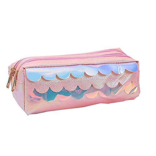 WINTER DONG Mermaid Scale Rainbow Lápiz Bolso Bolsa