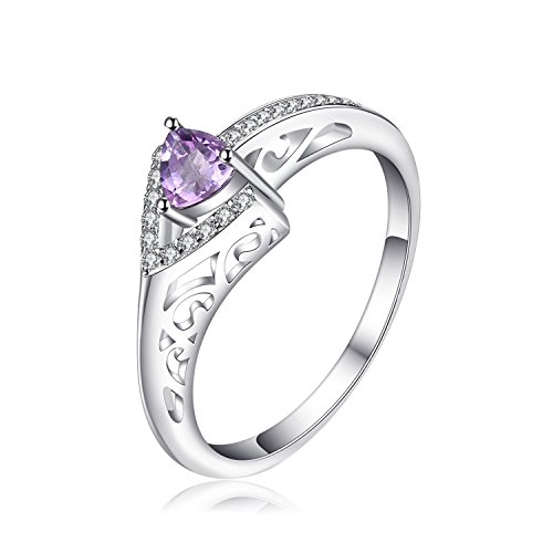 JewelryPalace Luxus 0.2ct Echter Amethyst Ring 928 Sterling Silber