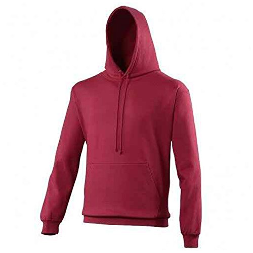 AWDis Herren Modern Kapuzenpullover Gr. S, cranberry (Hooded Womens Fleece California)