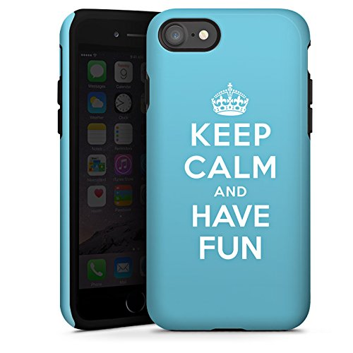 Apple iPhone X Silikon Hülle Case Schutzhülle Keep Calm Fun Spaß Tough Case glänzend