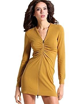 [Sponsorizzato]Vestito Donna manica Lunga Viscosa Lana Abito primavera in maglia Fashion Sexy Maglieria Sensì Made in Italy S...