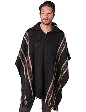 [Patrocinado]Gamboa - Poncho Rústico de Alpaca para Hombre - Disponible en Varios Colores
