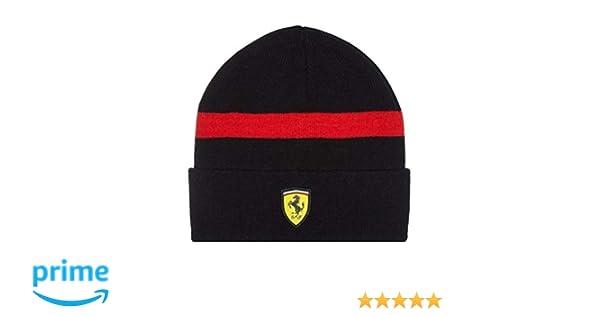 ce58211366a Ferrari knitted beanie hat with embroidered Ferrari Logo