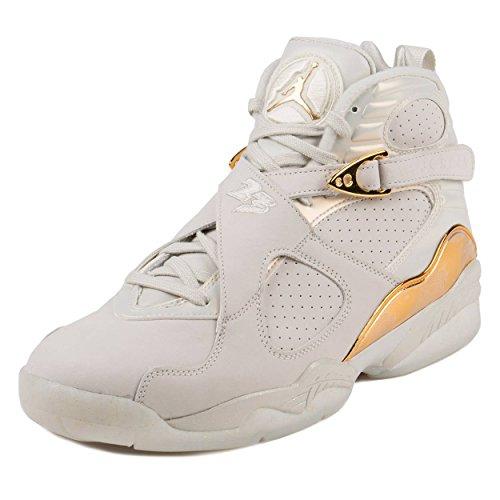 Nike Herren Air Jordan 8 Retro C&C Basketballschuhe, Blanco (Light Bone/Metallic Gold-White), 41 EU