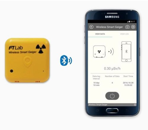 Smart Wireless Geigerzähler Strahlenmessgerät Dosimeter Radiometer Geiger-Müller