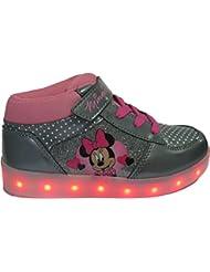 Baskets LED Minnie pour filles - semelle lumineuse clignotante