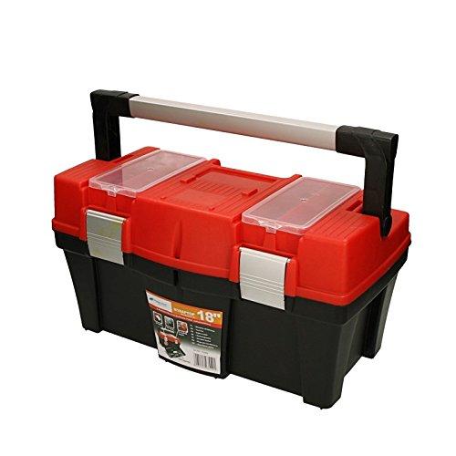 """Werkzeugkoffer Aptop 18"""" 46x26x24,5cm Werkzeugkasten Sortimentskasten Werkzeugkiste Angelkoffer Kunststoff - 3"""