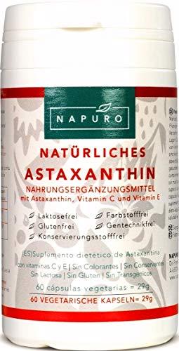NAPURO Astaxanthin 4mg Kapseln, Vegetarisch mit schwedischem Haematococcus Pluvialis 84mg, 49.5 g