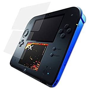 atFoliX Panzerfolie kompatibel mit Nintendo 2DS Schutzfolie, entspiegelnde und stoßdämpfende FX Folie (3er Set)