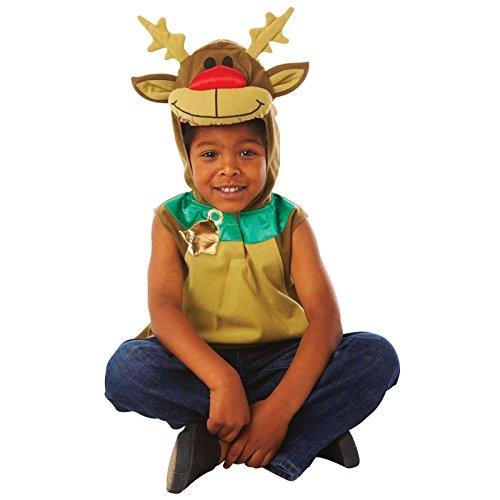 Kinder Mädchen Jungen Rentier Rudolph gildenwams Fancy Kleid Kostüm Outfit Kinder Party Outfit (Sven Frozen Kostüm)