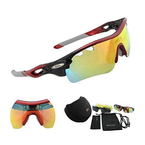 Duco-Lente-polarizada-marco-de-de-sol-deportivas-para-la-caja-de-proteccin-UV400-Hombre-por-Aire-libre-Gafas-de-sol-cuidado-de-la-visin-de-proteccin-0025-Rojo