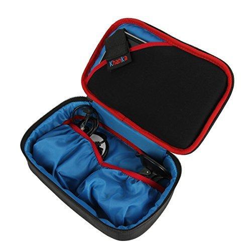 """Khanka Universale scatola borsa Custodia Caso per Dispositivi Schermo 6""""/7"""" Pollici Navigatore GPS TomTom Garmin Nuvi"""