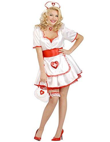 Sexy Krankenschwester XL Damenkostüm weiss rot XL