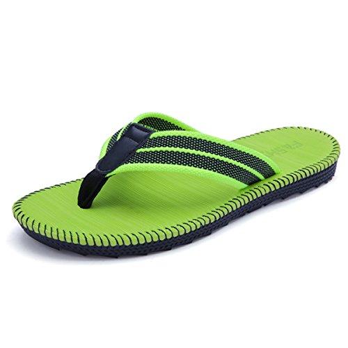 Paar Sandalen Braid Strap Hausschuhe Männer Und Frauen Flip-Flops Für Sommer Indoor Badezimmer Outdoor Urlaub Am Meer,Green-46