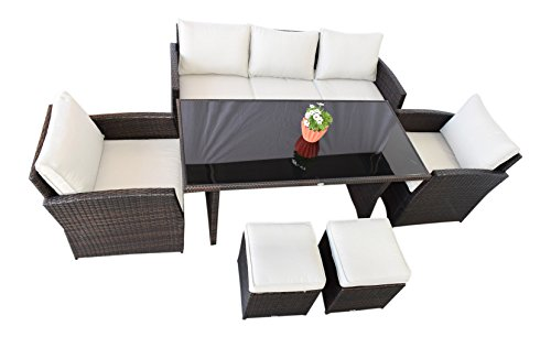 Giardino lounge mobili avana in marrone scuro tavolo da for Tavolo marrone scuro