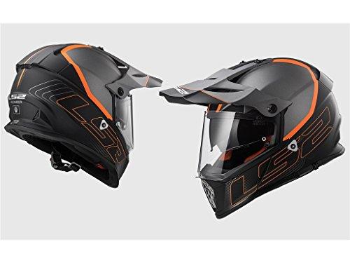 LS2 Casco Moto Mx436 Pioneer Element, Matt Black Titanium, L