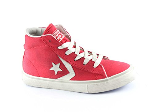 CONVERSE 643776CS 30/34 red white pro leather vulc mid canvas Rosso