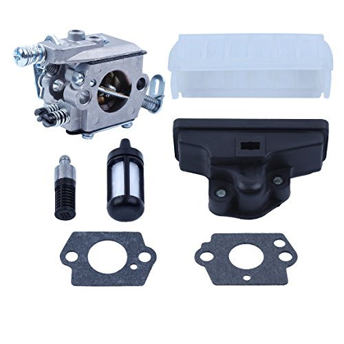 Haishine carburador Aire Aceite Combustible Filtro con 2pc Kit de Juntas de carburador para Stihl 021...