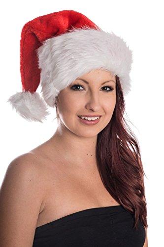 lz Weihnachtsmütze Nikolausmütze Plüsch Rand Ca 12cm Santa Mütze Nikolaus (Santa-mützen)