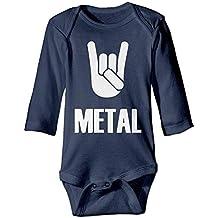 ARTOPB Unisex Newborn Bodysuits Heavy Metal Baby Babysuit Long Sleeve Jumpsuit Sunsuit Outfit Navy