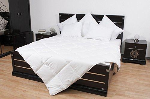 Alta calidad Cojín 1 & 2 Personas Manteles, cobertores Camas acolchadas Edredón Ropa de cama hecho en Alemania Blanco - blanco, 155 x 200 cm Edredón