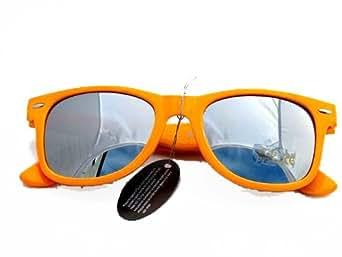 NERD® Sonnenbrille Neon Orange Silber verspiegelt