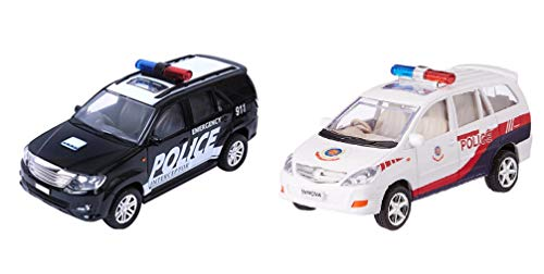 Combo Toys of Policar Car and Policar Car Toys | Toys for Kids| Miniature Cars Toys | Pull Back and Go | Black and White Color - Set of 2 Toys - Value Pack