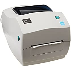 "Zebra GC420T Monochrome Desktop Direct Thermal/Transfer Label Printer, 4""/S Print Speed, 203 DPI Print Resolution, 4.09"" Print Width, 110-240V AC"