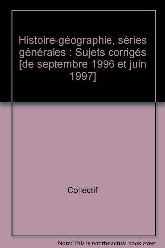 Annales 1998, histoire géographie bac corrigés, numéro 49