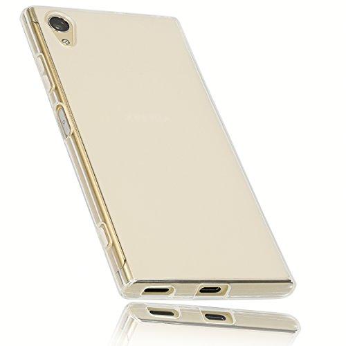 mumbi Schutzhülle für Sony Xperia XA1 Plus Hülle transparent weiss