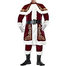 Kimring Men's Santa Claus Costume Classical Plus Size Christmas (Plus Size Di Santa Suit)