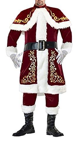 Kimring Men's Santa Claus Costume Classical Plus Size Christmas Suit Red (Plus Size Di Santa Suit)