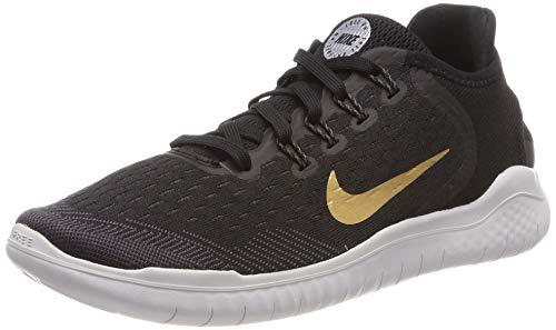 separation shoes be869 f2ef2 Nike Damen WMNS Free RN 2018 Laufschuhe Mehrfarbig (Black Metallic  Gold Vast Grey