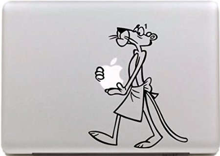Vati Blätter Removable Old Maus-kühler Entwurf Vinyl Aufkleber Aufkleber Skin Art Schwarz für Apple Macbook Pro Air Mac 13
