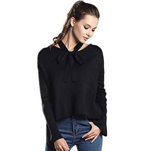 ICOCOPRO Damen Bluse Gr. Small, schwarz (Top Jersey Draped)