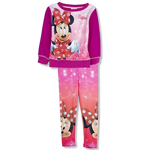 Disney Minnie Maus Leggings- und Pullover-Set, für 2–8Jahre alte Kinder Gr. 8 Jahre, Fuchsia (Junioren Disney Sweatshirt)