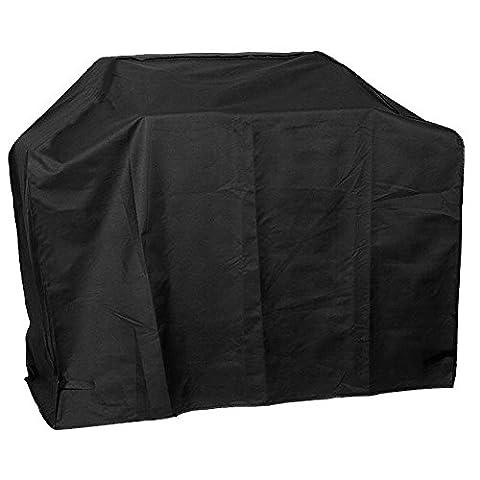 Zilong Housse BBQ/ Housse Étanche Anti-poussière/ Housse de Protection Ourlet Élastique et Respirante Anti-UV/Anti-l'humidité 170x61x117cm (66,93x24x46 in) ( Noir)