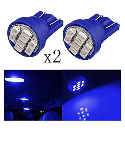 2 PCS T10 W5W 194 168 501 auto blu 8 LED 3020 SMD del cuneo Luce laterale della lampadina - Blu Auto Lights