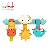 Battat - Rain & Shine Bath Bar - 6 Removable Pieces and 2 Suction Cups Best Bath Toys for Toddlers - Spin N Squirt