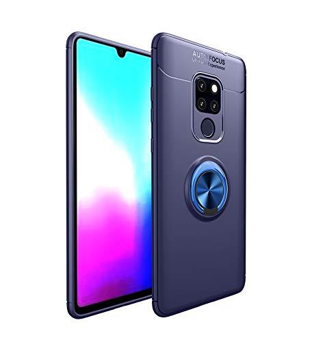 2Buyshop 2Buyshop Huawei Mate 20 lite Hülle Huawei Mate 20 Pro Schutzhülle, 360 Grad Drehbar Ringhalter Dünn Weich Hochwertigem Stoßfest Anti-Kratzer handyhülle Huawei P20 Hülle (Blau, Mate 20)
