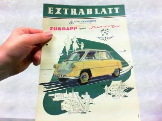 Gebraucht, Extrablatt - Zündapp baut Janus 250. gebraucht kaufen  Wird an jeden Ort in Deutschland