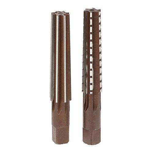 2 Stück HSS MT3 Kegel + Reibahlen mit geradem Schaft für die Bohrungsbearbeitung, installiert in Bohrmaschine, Fräsmaschine usw.