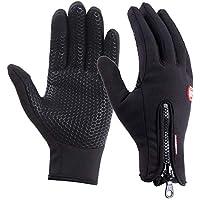 WENTS Touch Screen Gloves Gants à Écran Tactile Épaissi Thermique Anti-dérapante sous-Gants d'Hiver Coupe-Vent Respirant pour Cyclistes, Skieurs, Marcheurs