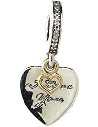 Pandora Sterling Silver Love You Forever Dangle Charm 792042CZ