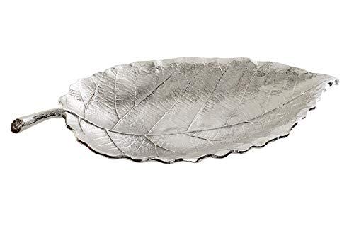 dream hogar tavolo da sogno centrotavola in alluminio placcato argento 40x20x6 cm