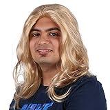 PKQ Perücken Herren, Blond Natural Long Locken Männer Perücke Lang Curly Haar Kunsthaar Haarteile für Cosplay Party Club Bar Festival Halloween Fasching (Einheitsgröße)