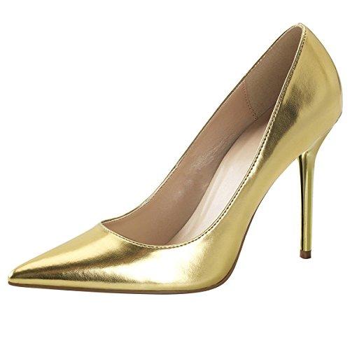 Heels-Perfect, Scarpe col tacco donna Oro (Gold (Gold))